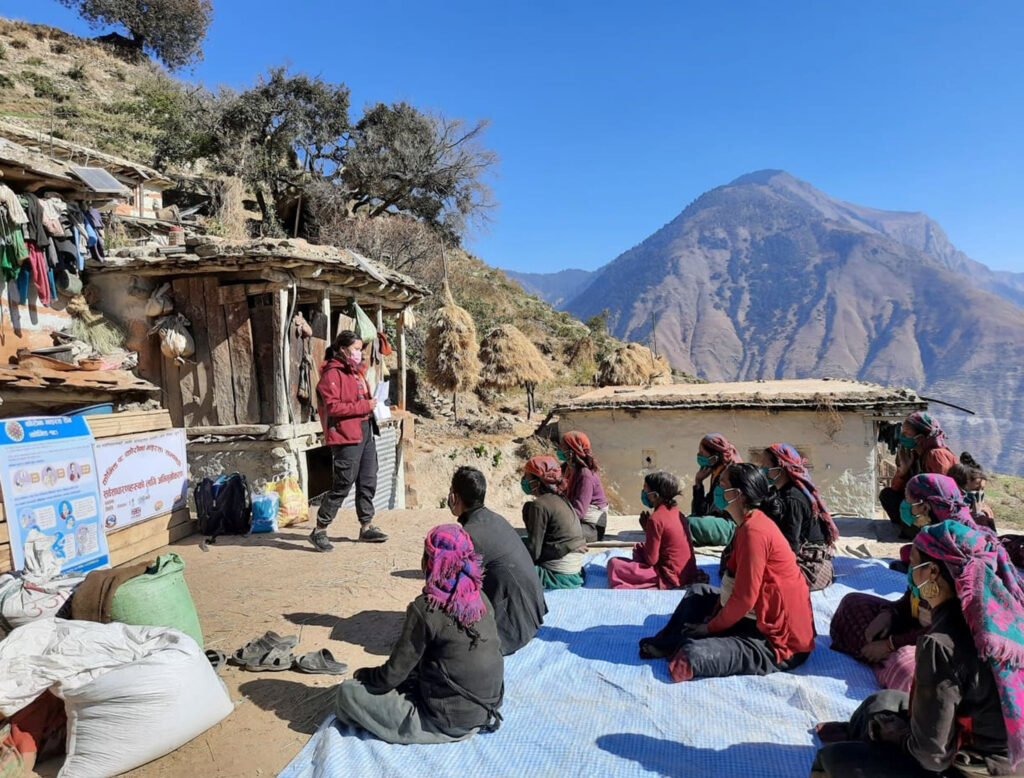 Hygiene Kits being distributed in Humla